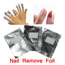 100pcs Nail Remove Foil Soak Off UV Gel Acrylic Wraps Nails Art Polish Oil Treatment Tools Cuticle Remover Free Shipping(China (Mainland))