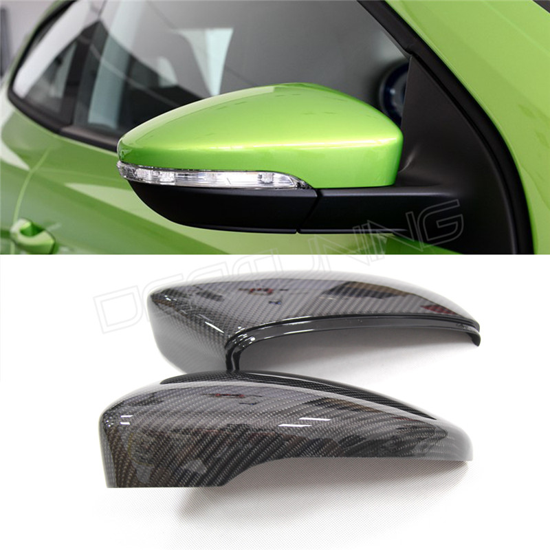 Full replacement carbon fiber rear view mirror for 2011-on  For VW Jetta MK  mirror cover sets