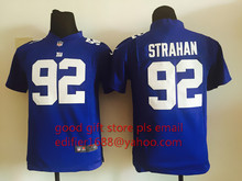 100% stitch youth New York Giants children 11 Phil Simms 13 Odell Beckham Jr. 56 Lawrence Taylor 80 Victor Cruz Embroidery Logos(China (Mainland))