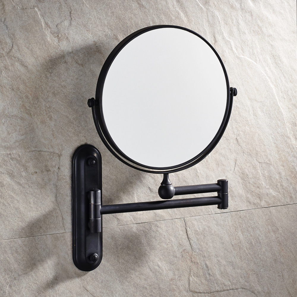 8 inch bathroom wall mounted oil rubbed bronze solid brass for Wall mounted mirror
