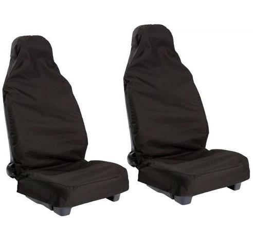 2pcs Front Universal Waterproof Nylon Car Van Auto Vehicle Seat Cover Protector Free shipping(China (Mainland))