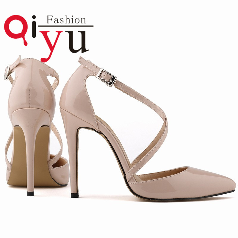 Size 35 42 sexy pointed toe thin High heels shoes summer sandals women party shoes solid colors women pumps Free Shipping