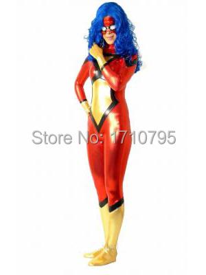 Spider Women Shiny Superhero Costume fullbody zentai suit Cosplay CostumeОдежда и ак�е��уары<br><br><br>Aliexpress