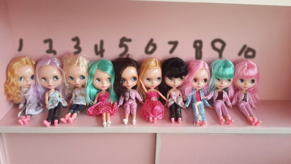 Free shipping cost Cheap Blyth doll for DIY change girl plastic doll factory doll(China (Mainland))