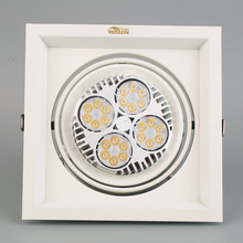 New Quality Single Square Head LED Lamp Square Ceiling Light 35/40W White HOT(China (Mainland))
