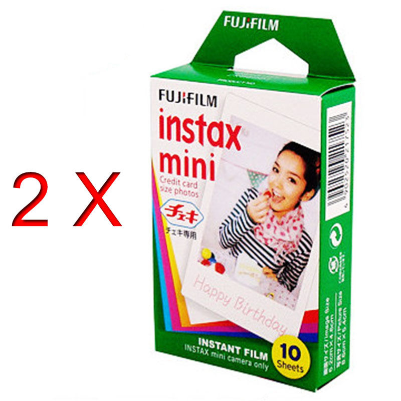 High qulaity 2X Fuji White Original Fujifilm Instax Film For polaroid Mini 7s 8 25 50s 90 Camera Share SP-1 free shipping(China (Mainland))