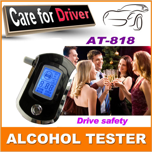 2015 NEW Hot selling Professional Police Digital Breath Alcohol Tester alkohol tester Breathalyzer Free shipping(China (Mainland))
