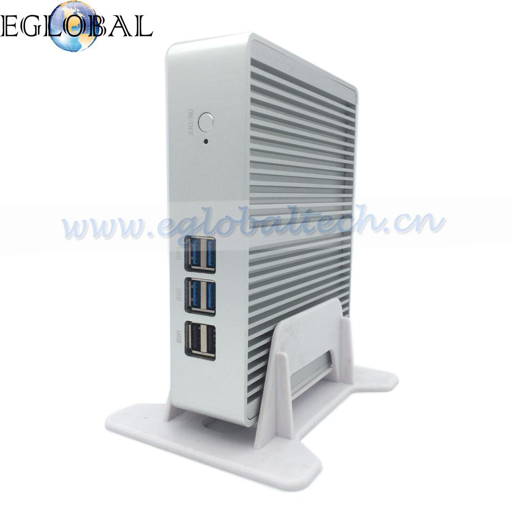 Fanless Mini PC ITX Computer Intel Core i3 4005U Haswell 4G RAM 128GB SSD Silver Aluminum Case HDMI HD 4k RJ45 Lan(China (Mainland))