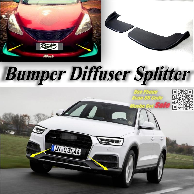 Car Splitter Diffuser Bumper Canard Lip For Audi Q3 SQ3 Tuning Body Kit / Front Deflector Car Fin Chin Reduce Body Tune Look<br><br>Aliexpress
