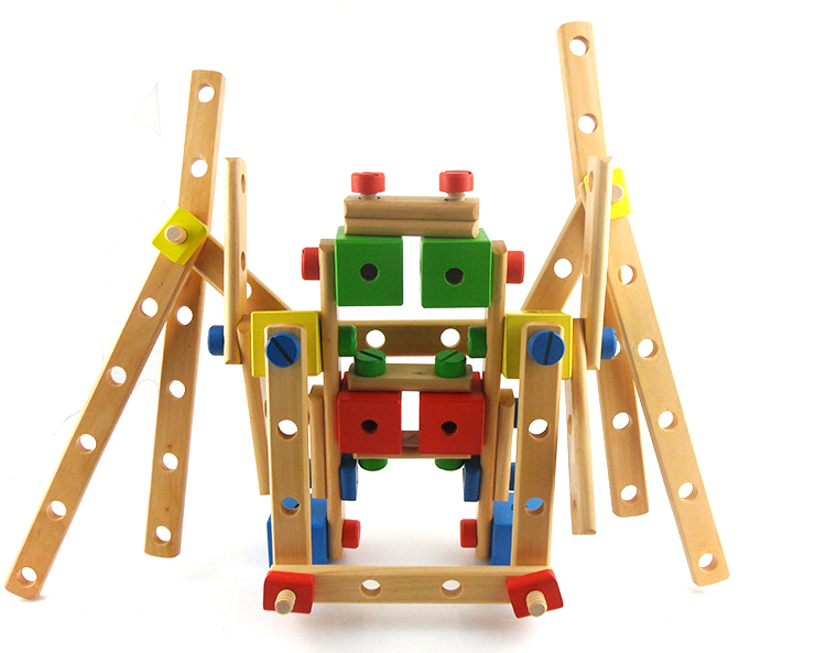 Multifunctional nut combination wooden educational wooden blocks child toy disassembly(China (Mainland))