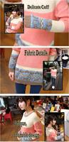 Корейские новые женские длинный рукав круглый шею Повседневные топы свитер пуловер трикотаж