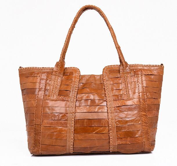 2016 winter personality womens patchwork shopping bag genuine leather handbag womens sheepskin one shoulder handbag<br><br>Aliexpress