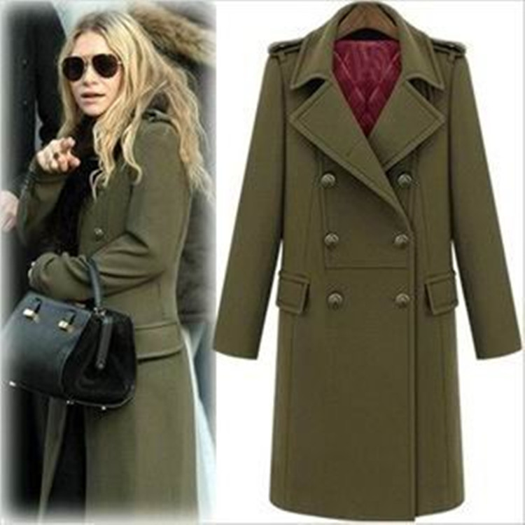 Popular Wool Blend Military Trench Coat-Buy Cheap Wool Blend ...