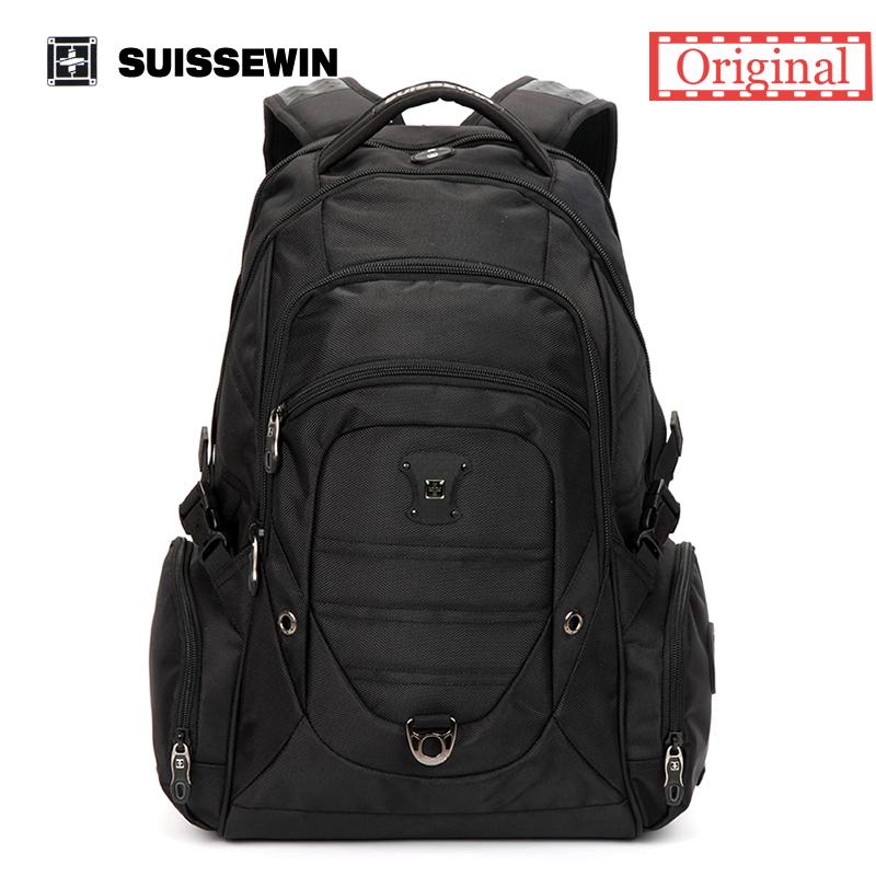 Suissewin Brand Backpack Men Swissgear Waterproof 15.6 Laptop Backpack Bag 36L Men's Outdoor Backpack Black Sac a dos SN9275(China (Mainland))