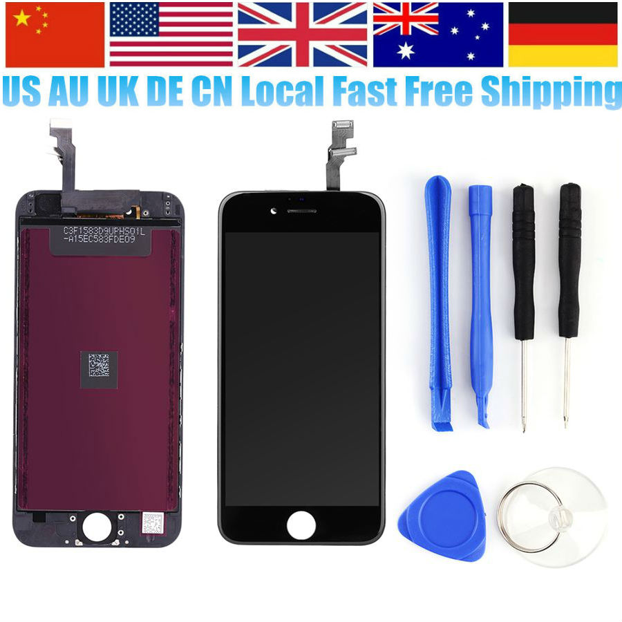 Oversea Ship Phone Assembly Display LCD Touch Screen with Digitizer Frame Assembly Replacement Full Screen for iPhone 5/5S/5C/6(China (Mainland))