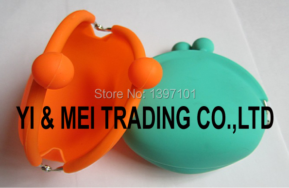 Kisslock Closure Silicon Coin Keys Purse for Promotional Gifts,colorful silicone purse coin for child(China (Mainland))