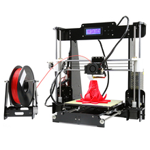Updated size 220*220*240mm Good Quality Precision Reprap Prusai3 DIY 3D Printer Kit with 5 Rolls/ 5KG Filament 8GB SD card & LCD