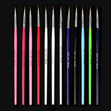12 pcs Nail Art Design Brush Pen Fine Details Tips Drawing Paint Set  AliPartner(China (Mainland))