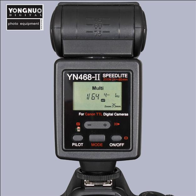 YONGNUO Upgraded TTL Multi Speedlite Flash Unit YN-468II YN-468 II for Nikon D5000 D5100 D90 D80 D70s D60 D40x D40(China (Mainland))