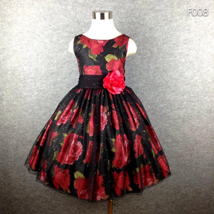 top quality flower print girl wedding dresses for party pattern girl vintage dress high street gauze blingbling<br><br>Aliexpress