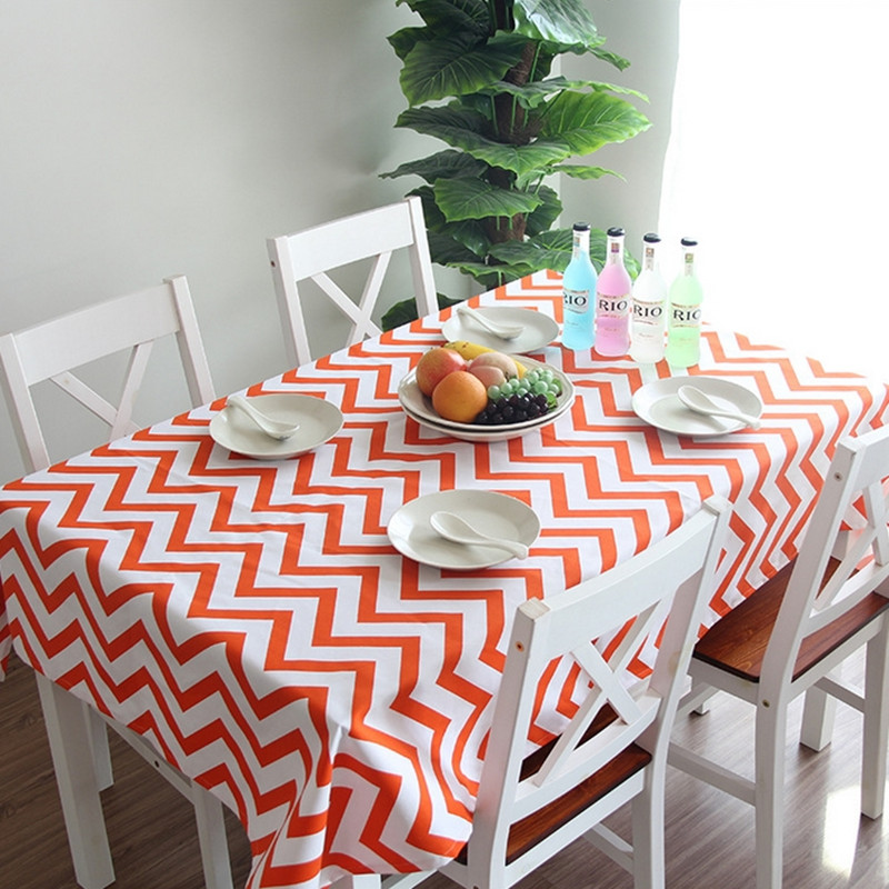 Euro style geometrical ripple quality canvas table cloth kitchen dining tablecloth multi functional cloth for daliy use Q89(China (Mainland))