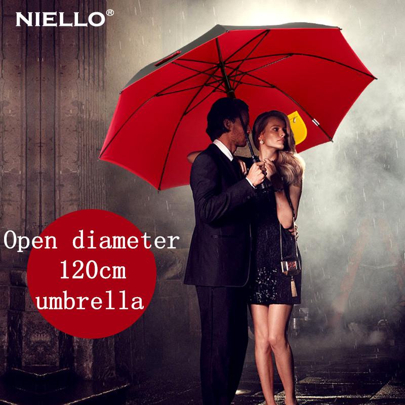 Ломкий 120 см открыть диаметр бизнес зонты, алюминиевый вал и стекловолокна ребра зонтики Двойной солнцезащитный крем