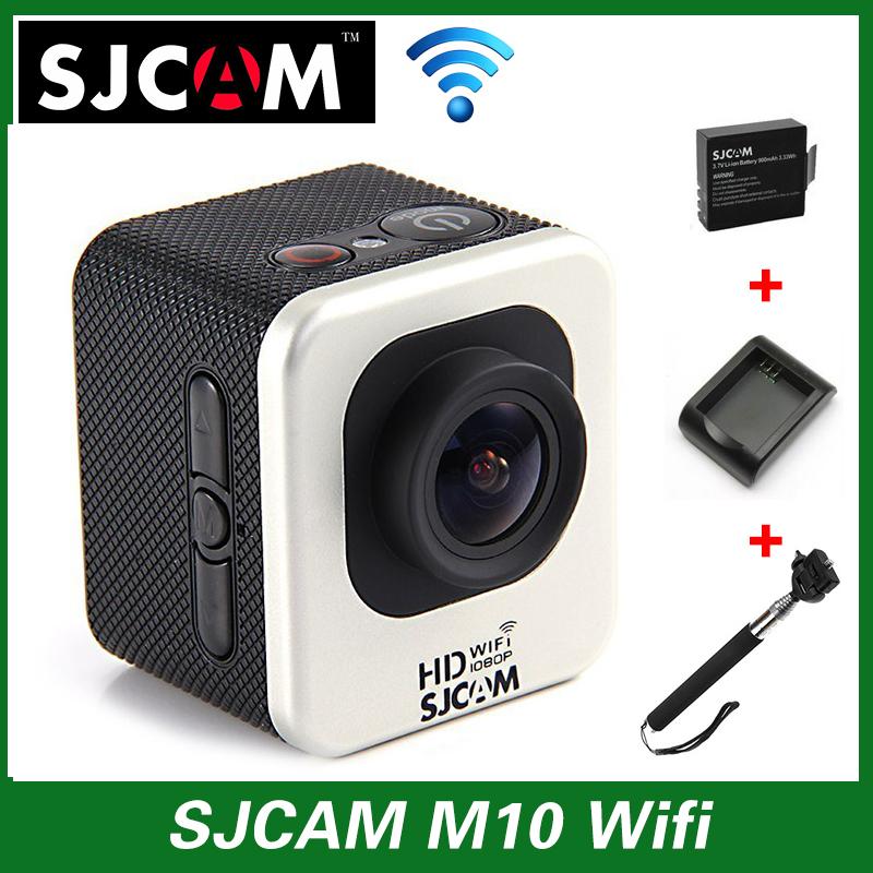 Original SJCAM M10 WIFI Action Sport Camera HD 1080P Mini DV 30M Waterproof Camcorder+Battery Charger+Extra 1pcs battery+Monopod(China (Mainland))