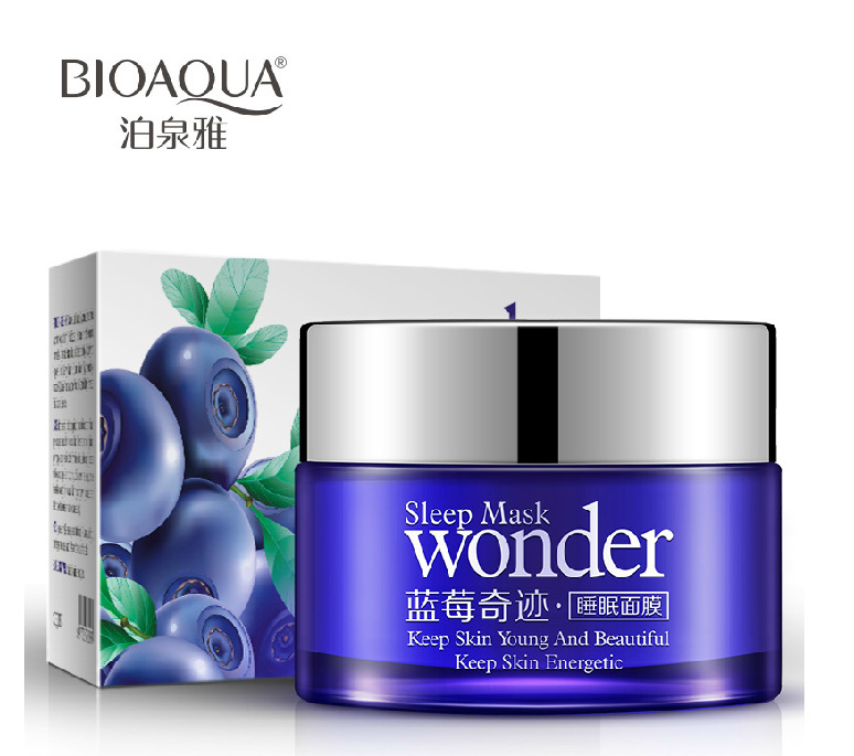 Blueberries Miracle Anti Wrinkle Sleep Mask Facial Mask Face Care Acne Treatment Whitening Cream Skin Care Firming Moisturizing(China (Mainland))