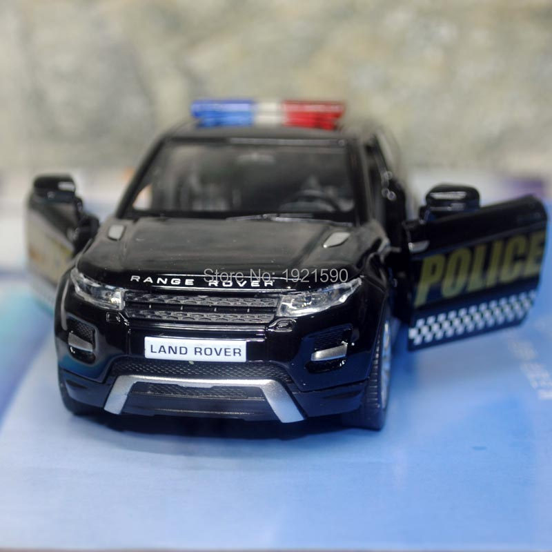 Brand New UNI 1/36 Scale UK L-andr0ver Evoque SUV Police Edition Diecast Metal Pull Back Car Model Toy For Gift/Collection/Kids(China (Mainland))
