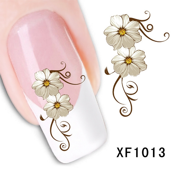 Гаджет  Hot New Fashion Elegant Lovely Women Daisy Flower Nail Water Stickers DIY free shipping  None Красота и здоровье