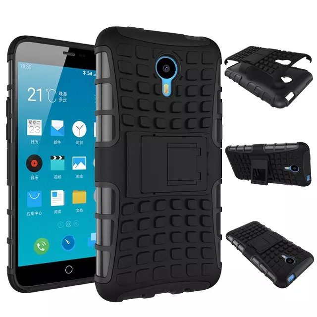For Meizu M1 Note Case 5.5inch Hybrid Kickstand Rugged Rubber Armor Hard PC+TPU With Stand Function Cover Cases For Meilan Note(China (Mainland))