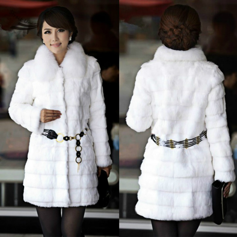 Здесь можно купить  2014 New Crazy Discount Ladies Long Style Winter Overcoat Rabbit Fur Coat Fur Collar Women Faux Fur Coat With Belt 51 2014 New Crazy Discount Ladies Long Style Winter Overcoat Rabbit Fur Coat Fur Collar Women Faux Fur Coat With Belt 51 Одежда и аксессуары