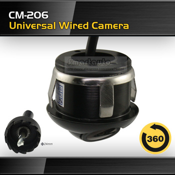High quality free shipping wired universal HD CCD car parking assistance auto front view camera/rear view camera waterproof