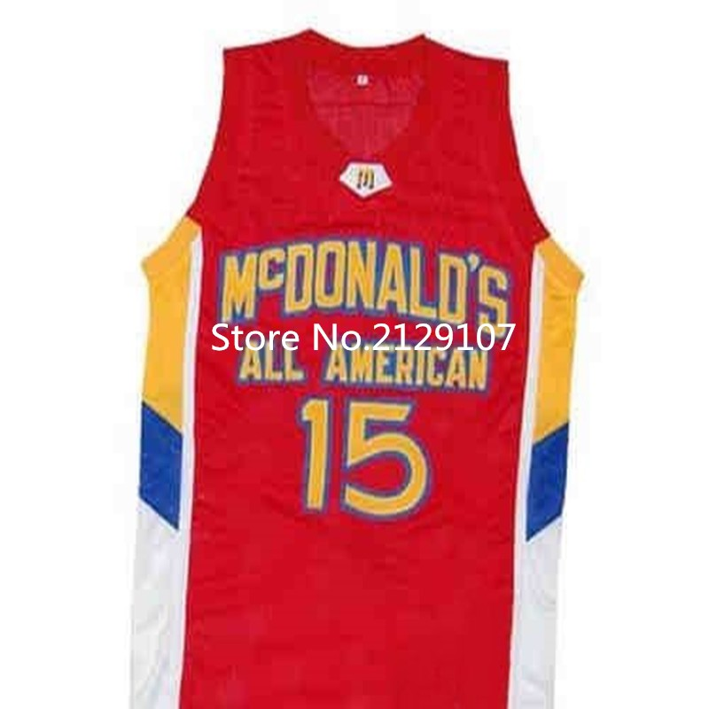 #15 BLAKE GRIFFIN Dolphins McDonald ALL AMERICAN high quality basketball jersey #12 DWIGHT HOWARD Retro throwback Cheap menswear(China (Mainland))