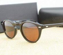 Famous brand oliver peoples  ov5186 Gregory Peck polarized sunglasses Vintage men and women sunglasses with original case(China (Mainland))