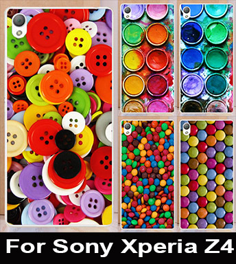 HOT sale Colorful chocolate&butten desiagns DIY mobile phone protective case hard Back cover Skin Shell for Sony Xperia Z4(China (Mainland))