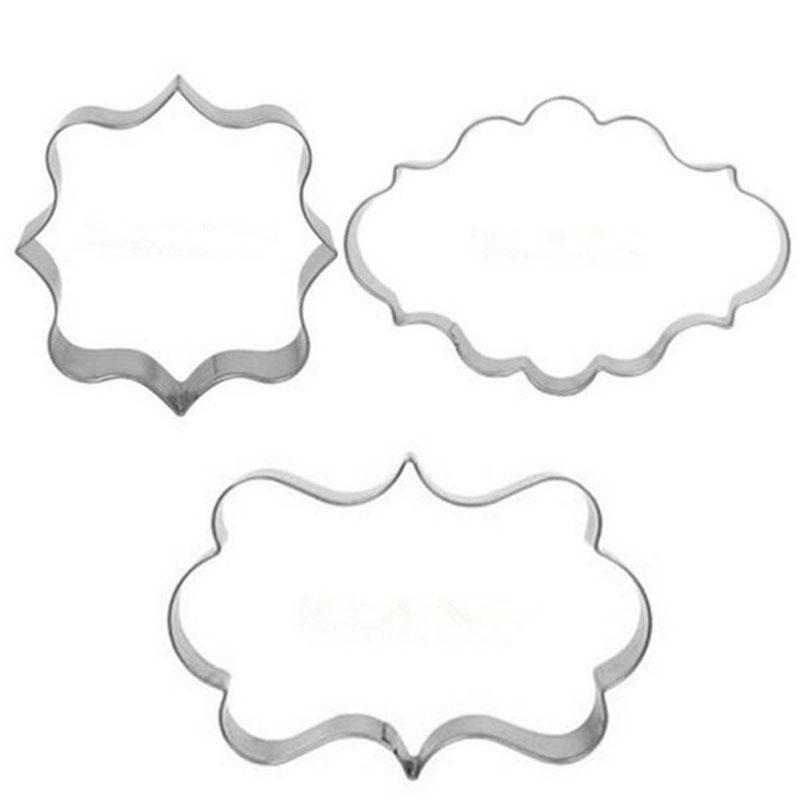 1 Set (3pcs) Cookies Pastry Fondant Cake Sugarcraft Decorating Mold Frame Cutter Tool(China (Mainland))