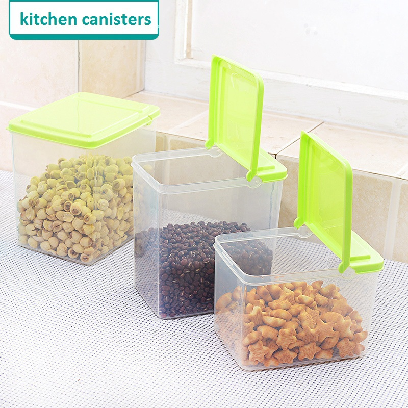 3 Pc/ Set kitchen plastic storage canisters kitchen canisters kitchen storage containers for food for dried fruit(China (Mainland))