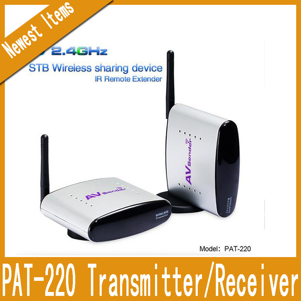2.4GHz 0.5W 4CH Wireless Audio Video TV Signal Sender Transmitter&Receiver with IR Remote Extender (150M), Model:PAT-220 Silver(China (Mainland))