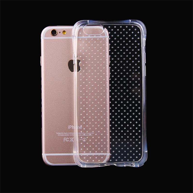 5 5S SE New Shockproof Case Soft TPU Rubber Gel Back Cover Clear Crystal Protective Cellphone Fundas for iphone 5 5S 6 6S 6PLUS(China (Mainland))