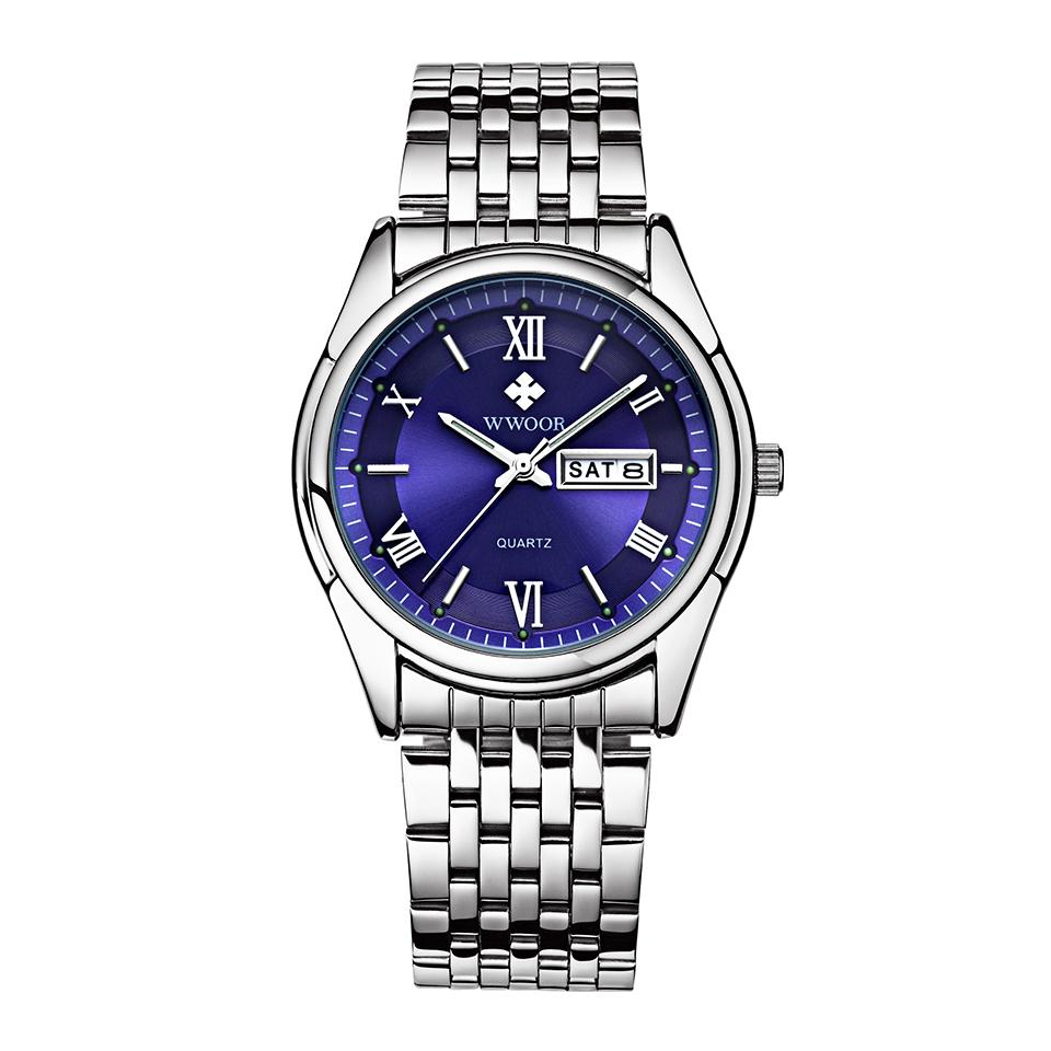 New Arrival Luxury Top Brand Steel Strap Men's Watches Fashion Formal Waterproof Quartz Watch Date Day Clock Dress Watch Gift