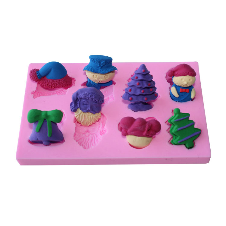 Christmas Series XmasTree,Santa Cap,Snowman Silicone Biscuit Cake Fondant Mould,Cookie Chocolate Mold,Cake Decorating Tool C042(China (Mainland))
