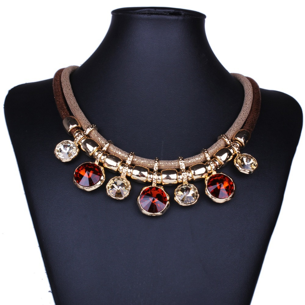 Brand Design Gold plated Geometric Round pendants New hot sell fashion Choker necklace statement jewelry for