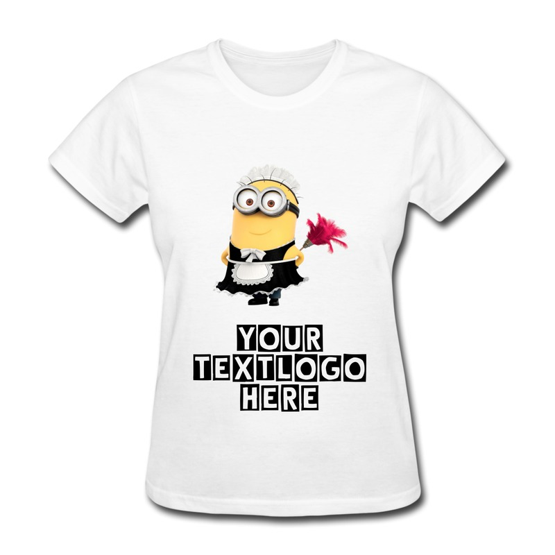 Despicable me 2 minions jerry doing cleaning tshirt women for Custom t shirts design your own