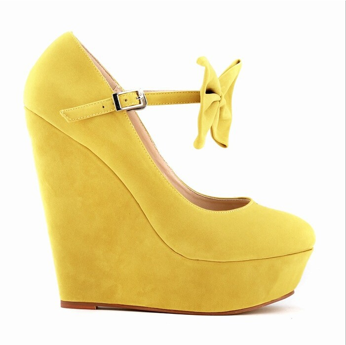 2017 Plus Size 34-42  Fashion Ladies Cute High Heels Sexy Wedges Shoe Comfort platform shoes Strappy Butterfly  Women Shoes w822