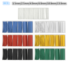 Buy 7Colors 100pcs/Set Insulation Shrinkable Sleeving Tubes Polyolefin Ratio 2:1 Heat Shrink Tubing Electrical Equipment Wrap 6Sizes for $7.19 in AliExpress store