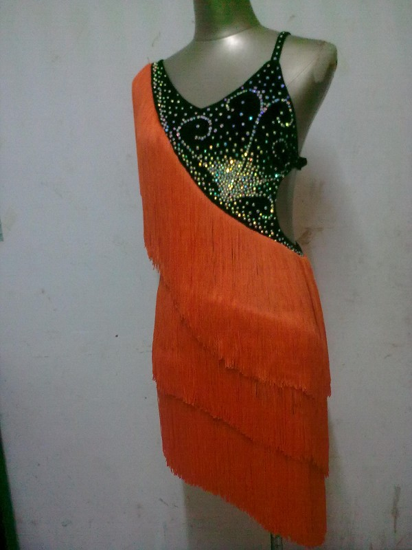 Здесь можно купить  New style Latin dance costume sexy diamond tassel women latin dance competition dresses for Tango cha-cha dance dresses   Одежда и аксессуары