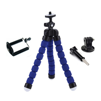 Flexible Octopus Mini Tripod Adapter with Screw Phone Holder for Gopro Hero 4 3+ SJ4000 5000 Xiaomi yi 2 Camera Accessories