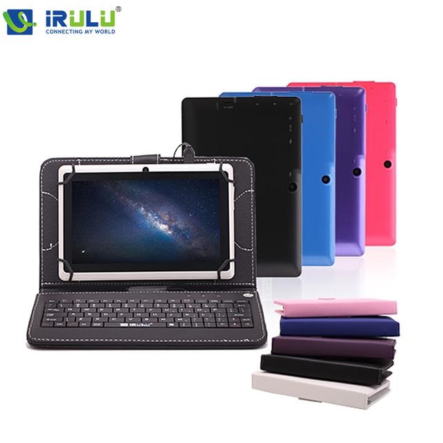 """Irulu eXpro 7 """" планшет пк четырехъядерный процессор андроид 4.4 планшет 8 ГБ ROM Cam Google APP играть USB WIFI multi-цветы ж / клавиатура новый горячий"""