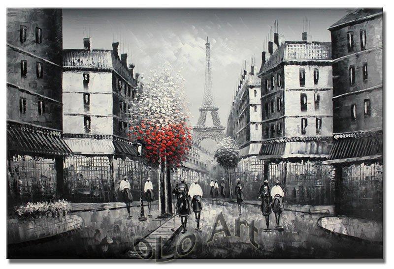 Paris Eiffel Tower Oil Painting